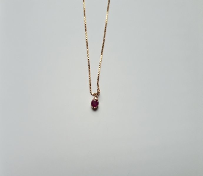 A gem stone necklace